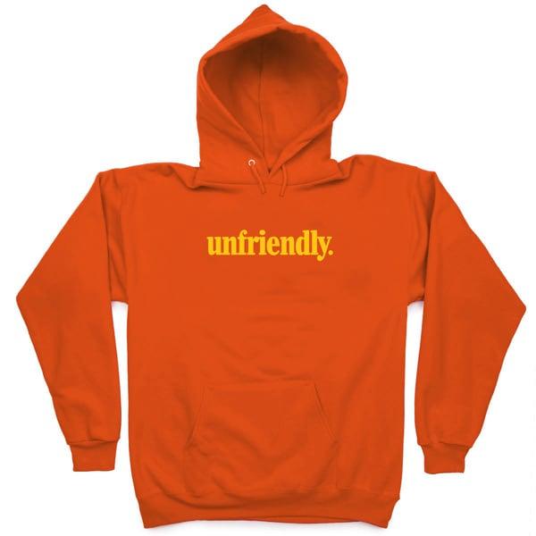 Image of Nu Unfriendly  (Orange Pullover Hoodie)