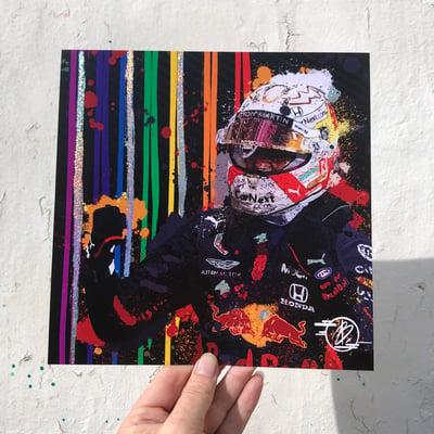 Image of Max Verstappen 2021 foil print