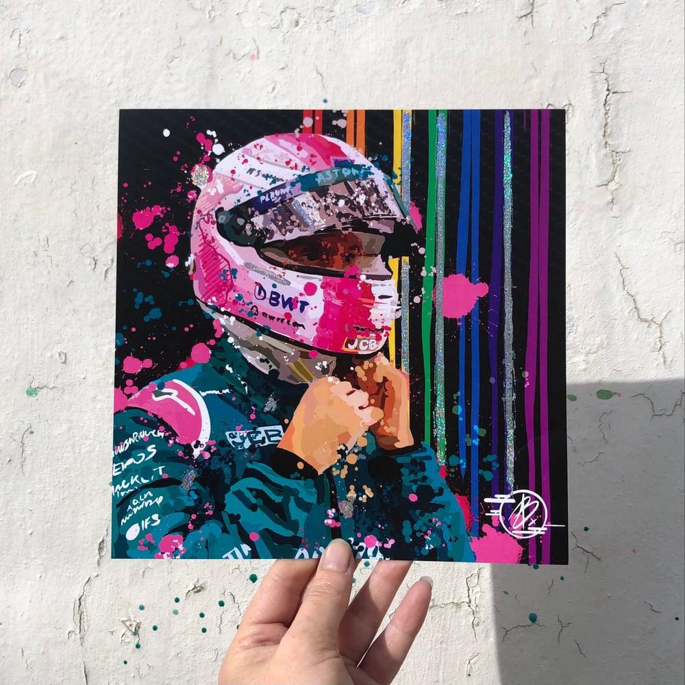 Image of Sebastian Vettel AM foil print