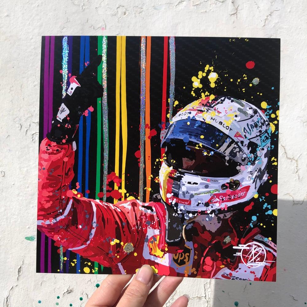 Image of Sebastian Vettel F foil print
