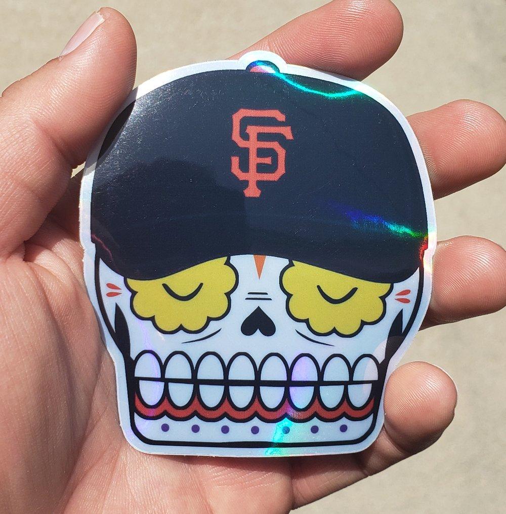 "SF Calavera Holographic 3.5"" Sticker"