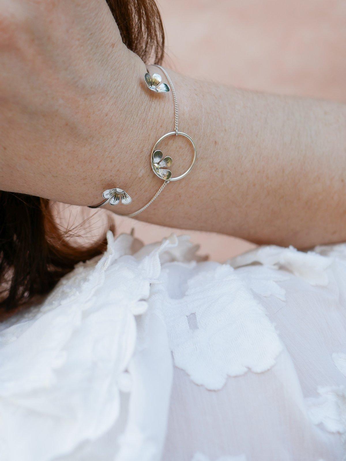 Image of Bracelet BLOOM Argenté