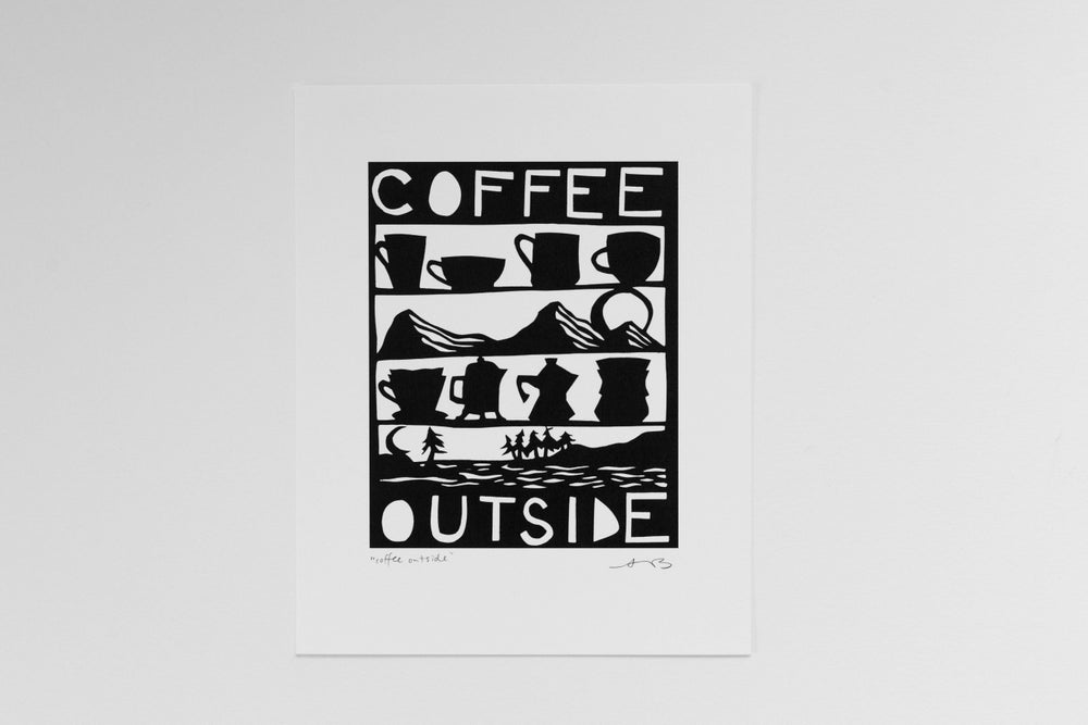 """Image of """"Coffee Outside"""" 8x10"""" Print"""
