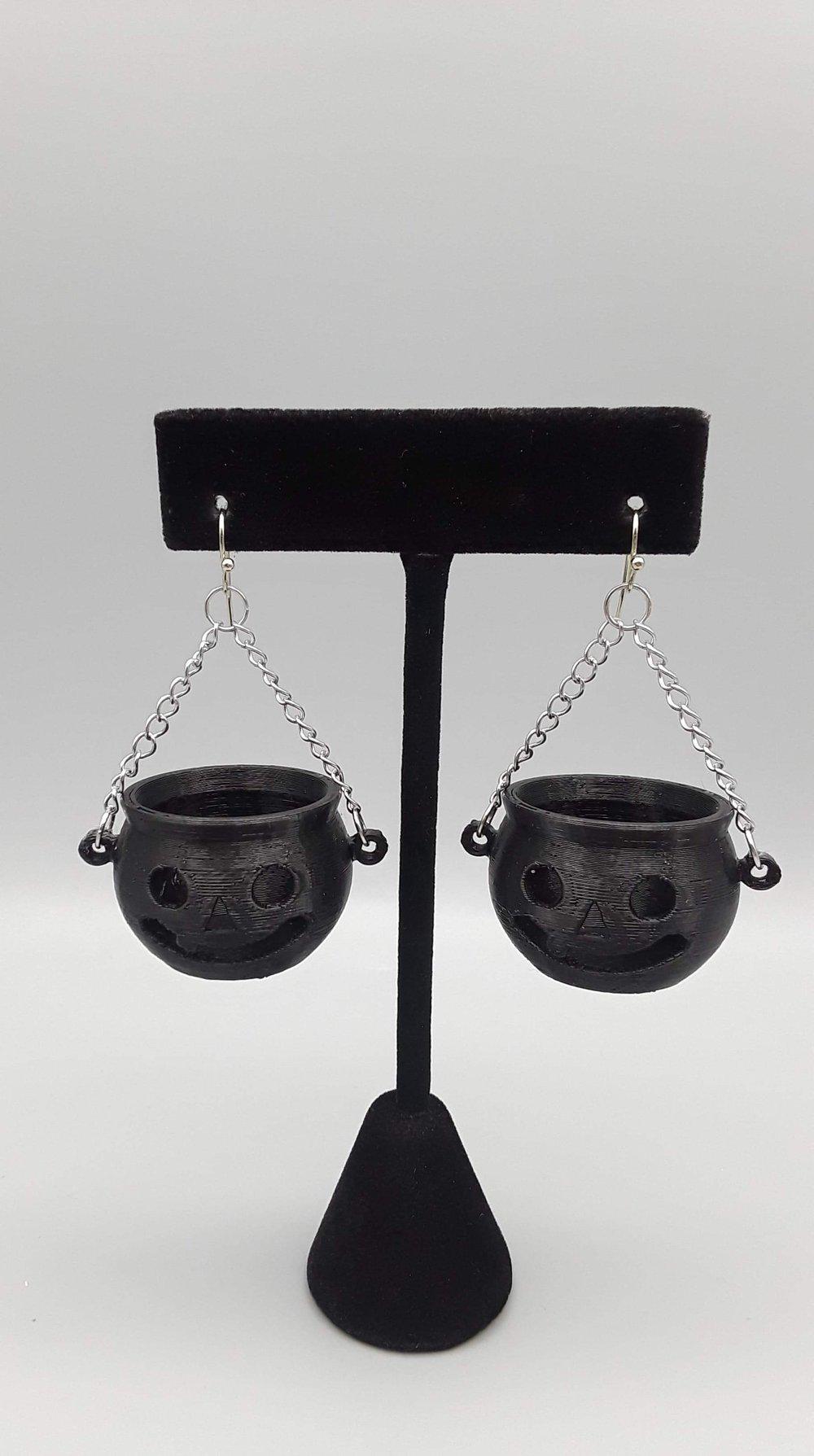Black Jack-O-Lantern Earrings