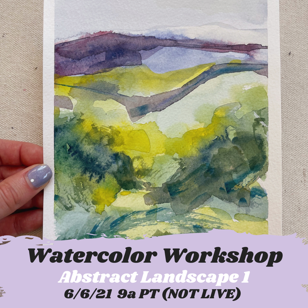 Image of Learn How to Paint Abstract Watercolor Landscape 1