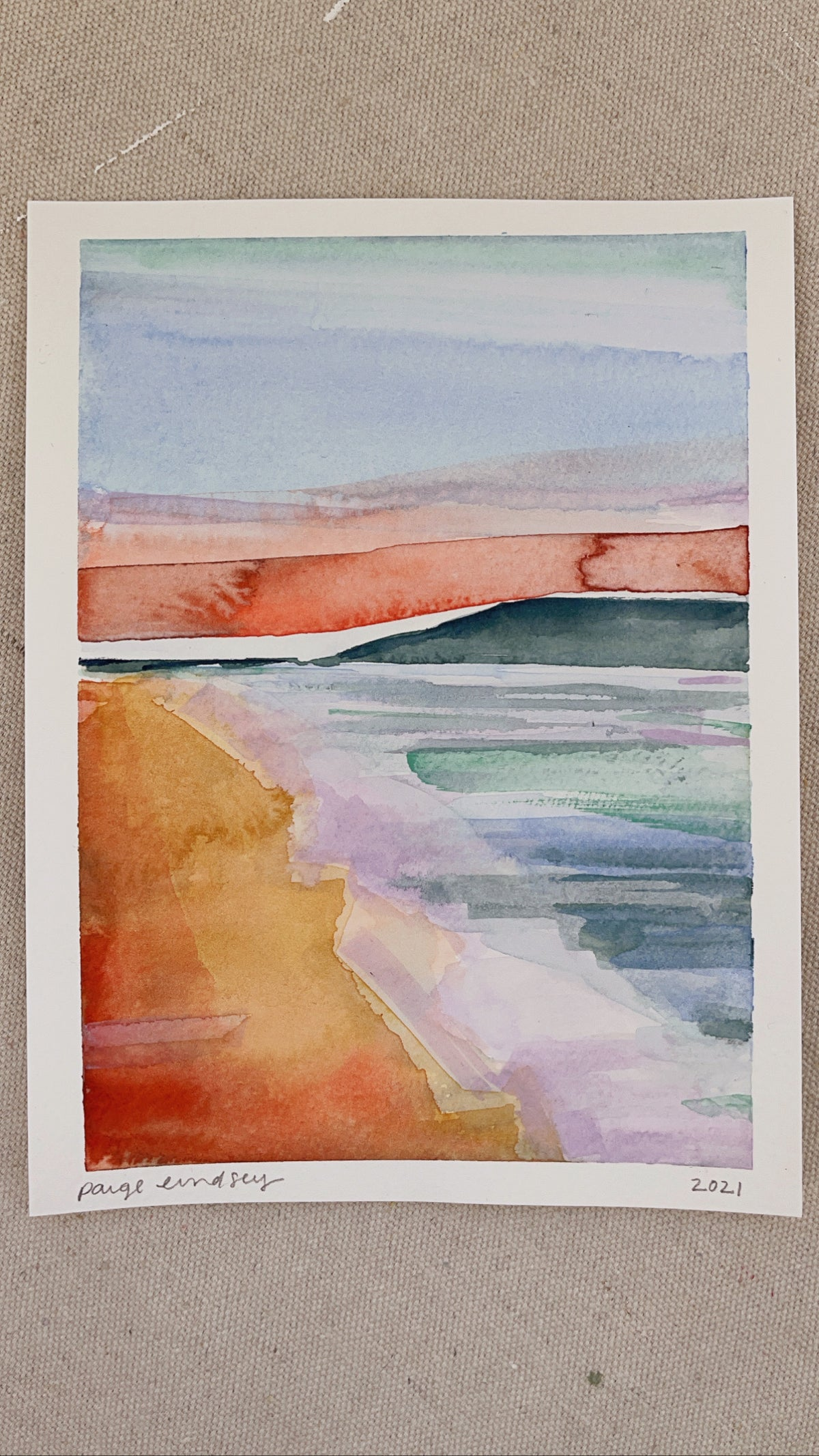 Image of Learn How to Paint Abstract Watercolor Landscape 3