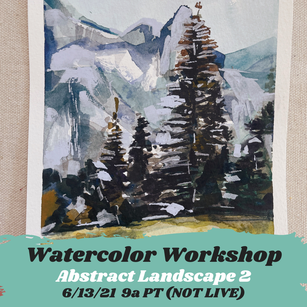 Image of Learn How to Paint Watercolor Abstract Landscape 2
