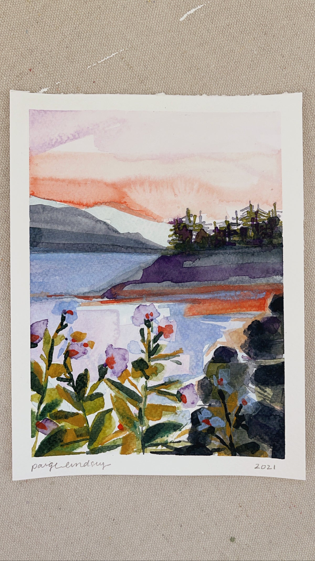 Image of Learn How to Paint Abstract Watercolor Landscape 4