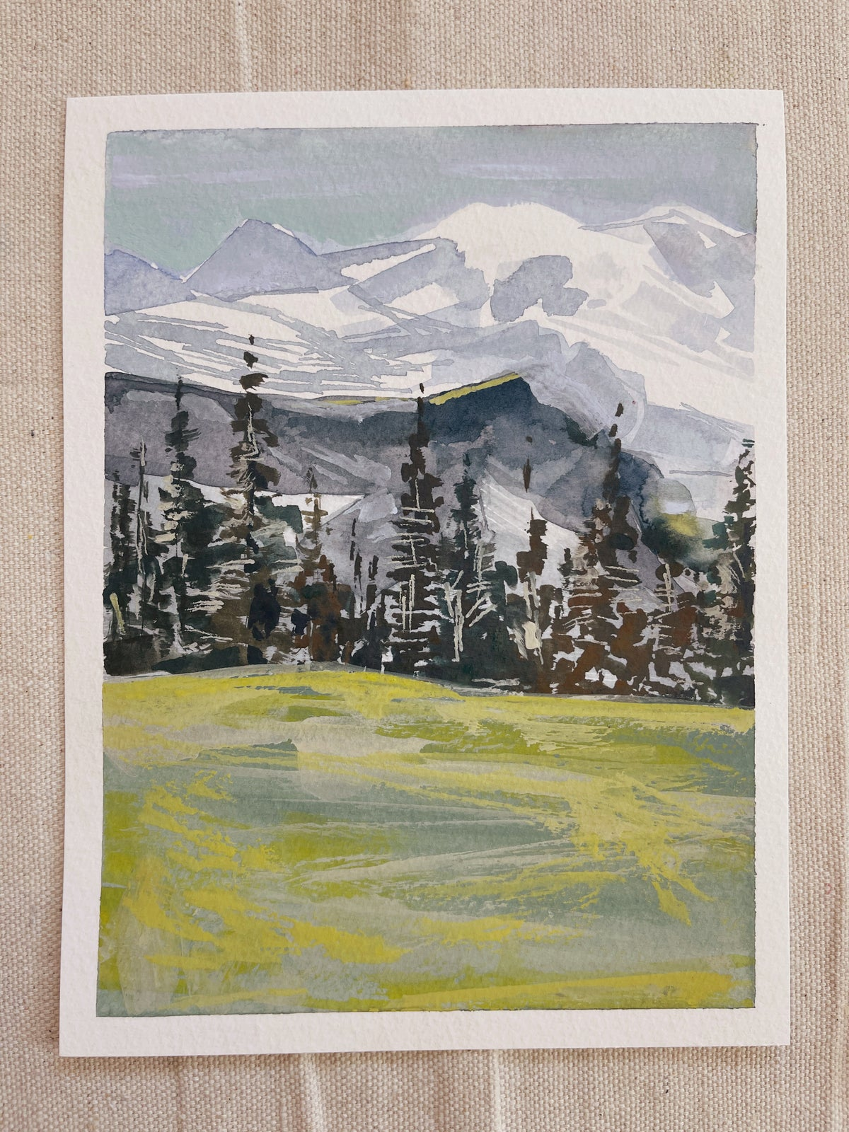 Image of Learn How to Paint Abstract Watercolor Landscape 5