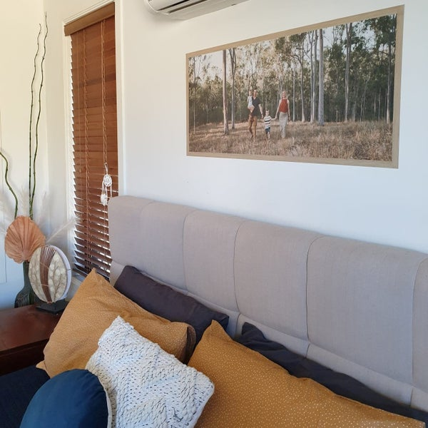 Image of Repositional Photo Wall Decal with timber-look frame