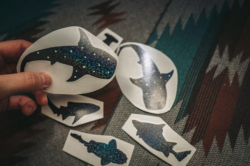 Image of Shark Silhouette Decals