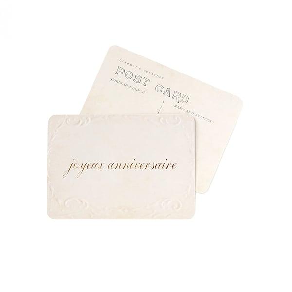 Image of Carte Postale JOYEUX ANNIVERSAIRE / DORÉ / OLD PAPER