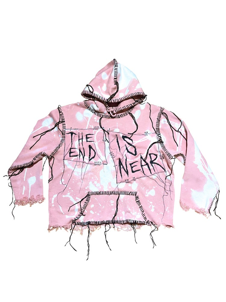 Image of THE END IS NEAR SUMMER DISTRESSED LOGO HOODIE