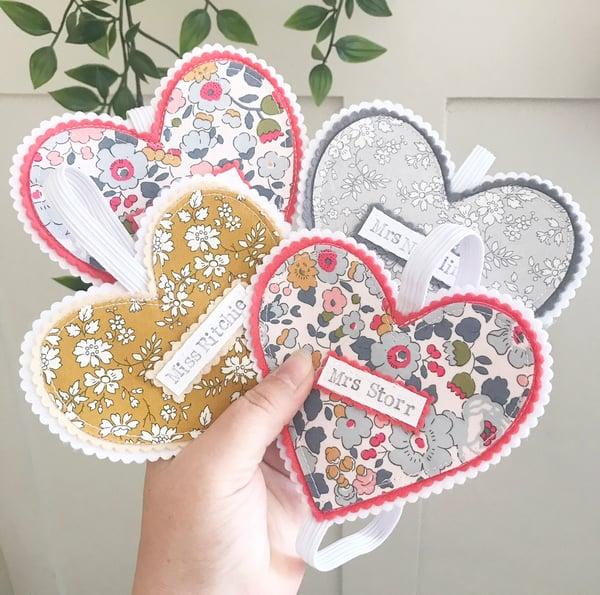 Image of Liberty Fabric Heart Bookmark