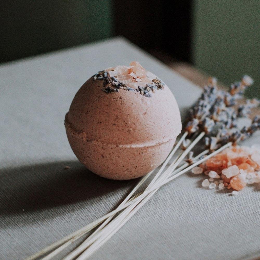 Image of Lavender and Grapefruit Botanical Bath Bomb