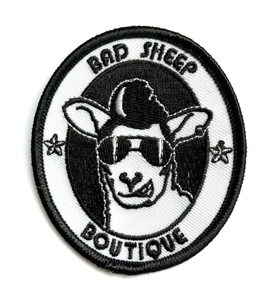 Image of Bad Sheep Boutique Logo Woven Patch