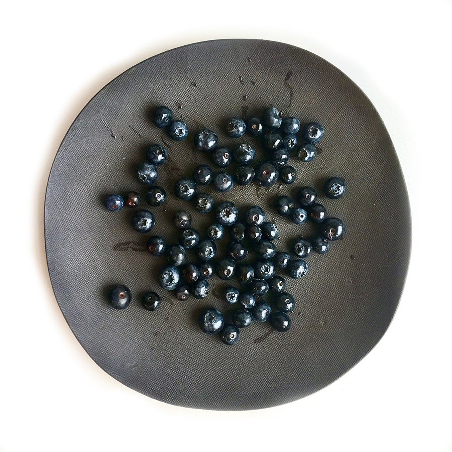 Image of Black Stoneware Plate.