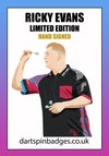 Ricky Evans limited edition pin badge hand signed pre-order
