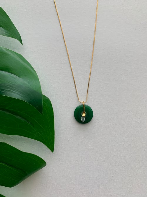 Image of Jade Donut Necklace