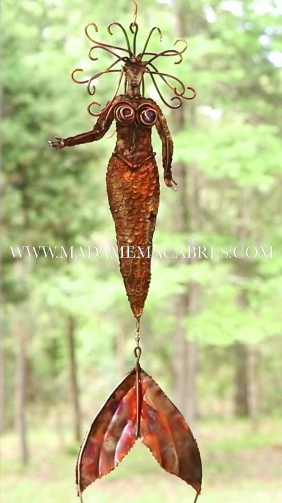 Image of Copper Mermaid - Wind Spinner