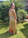 Bianca Halter Frill dress Browns /Red