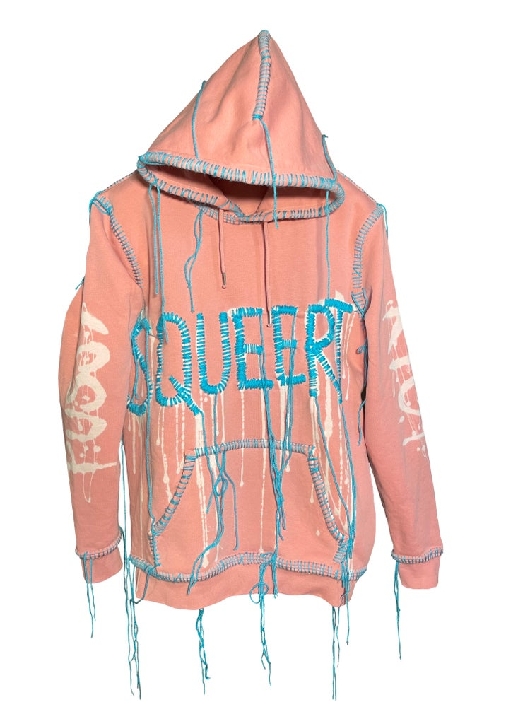 """Image of PUSSYRIOT X THE END IS NEAR """"SQUEERT"""" HOODIE"""