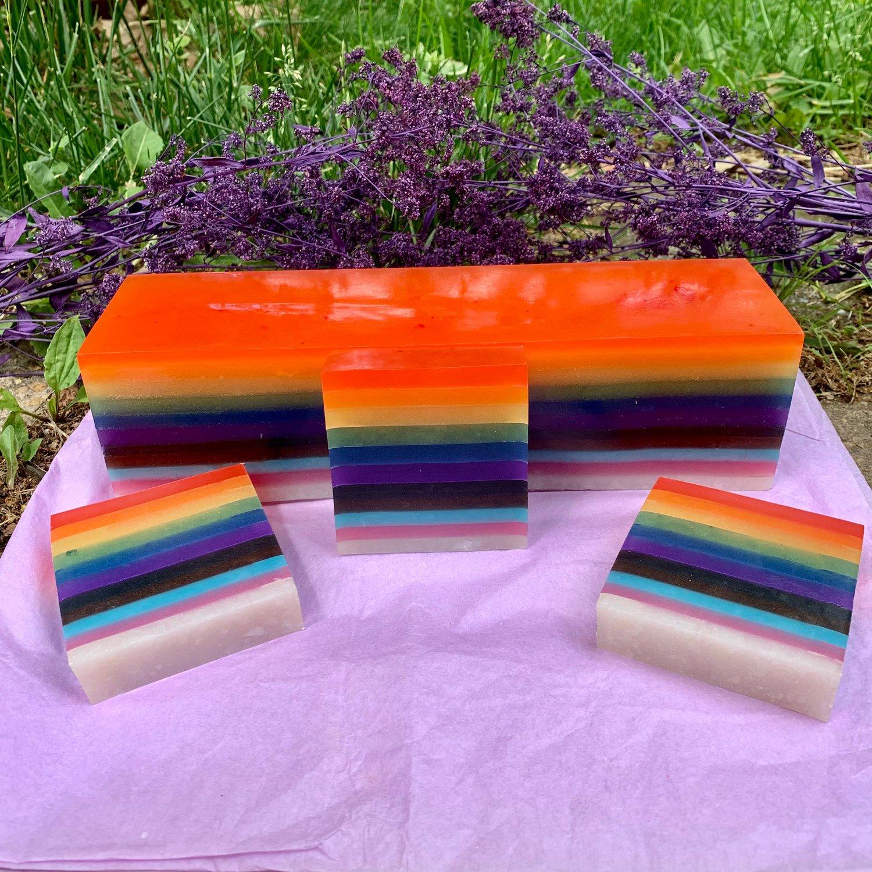 Broken, Gay, and Caffeinated Coffee Hemp Pride Soap