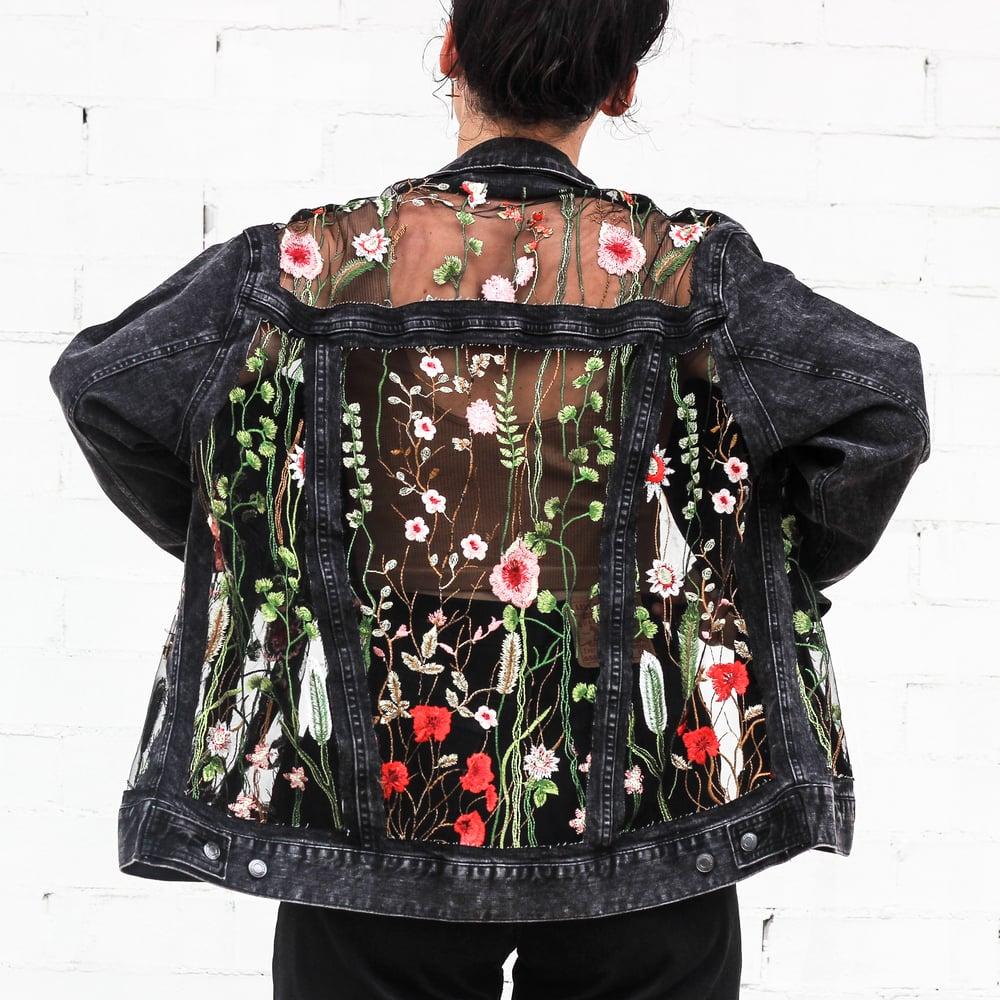 The Black Floral Jacket