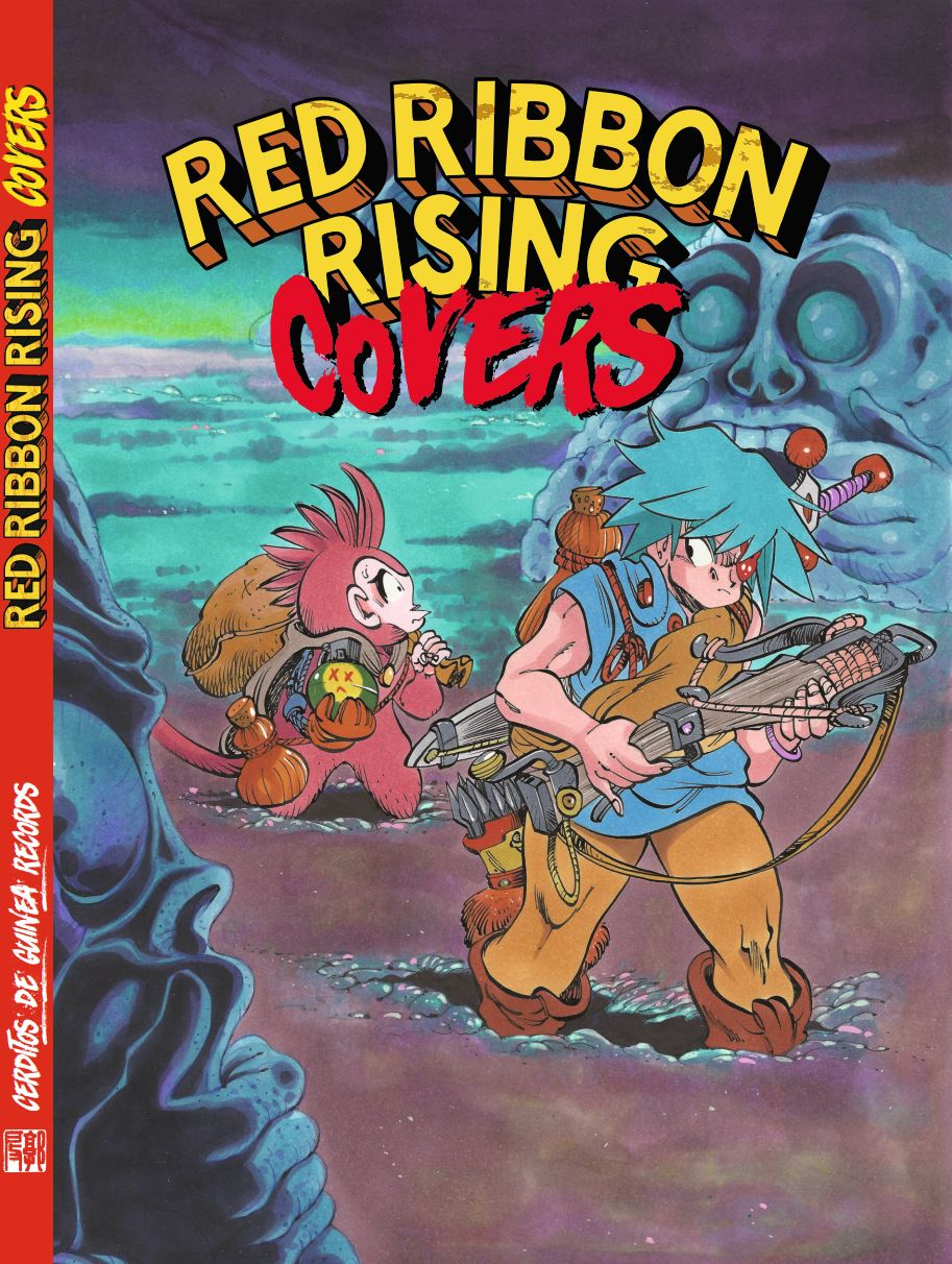 Image of artbook RED RIBBON RISING COVERS