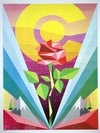 ROSE OF THE ROCKIES SIGNED SERIGRAPH
