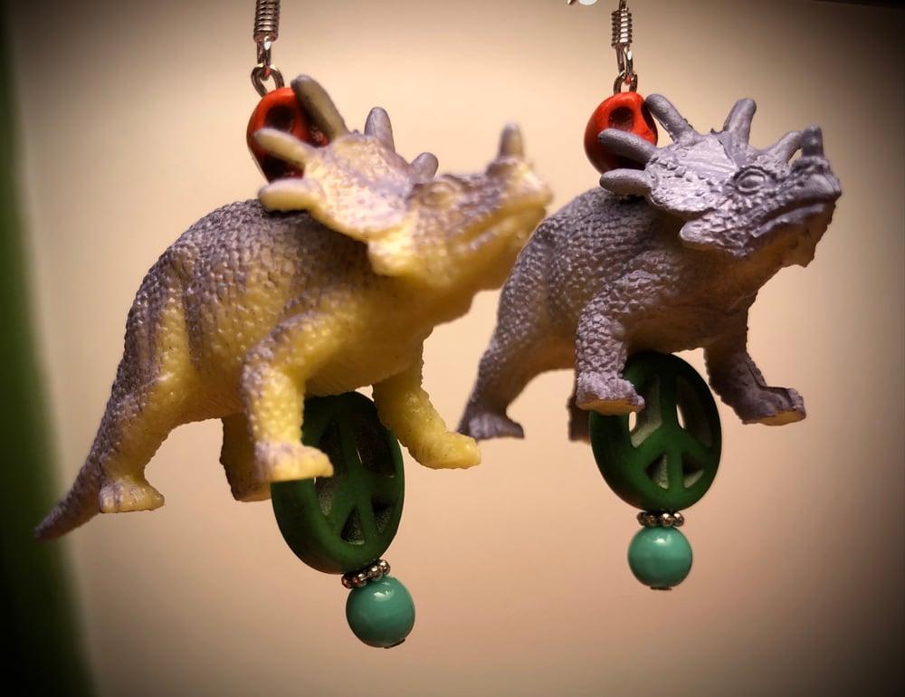 Dinooooosaur earrings