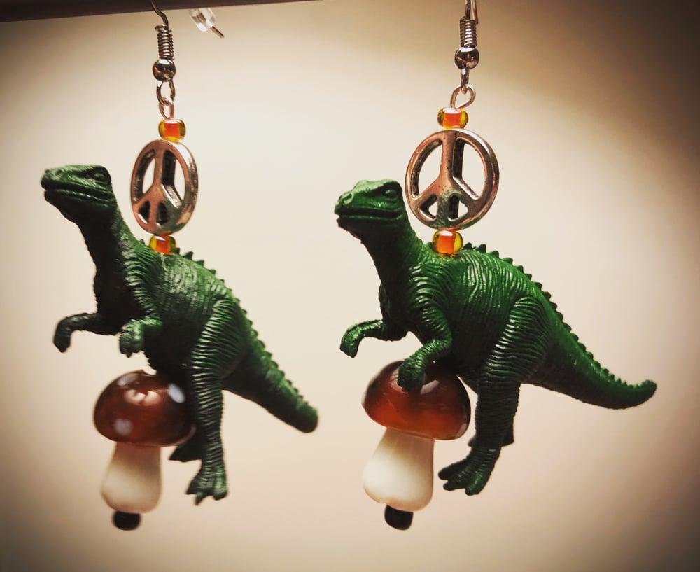 Dinooooooooosaur earrings
