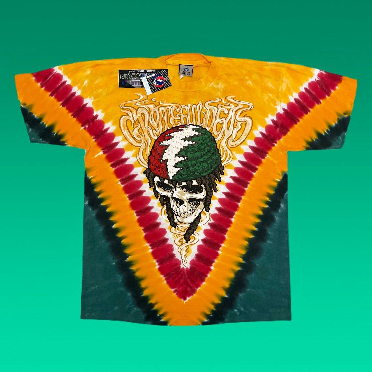 Original Grateful Dead Rasta Skeletons Dye!! L or XL!!
