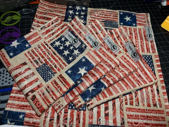 Image of Paisley stars and stripes