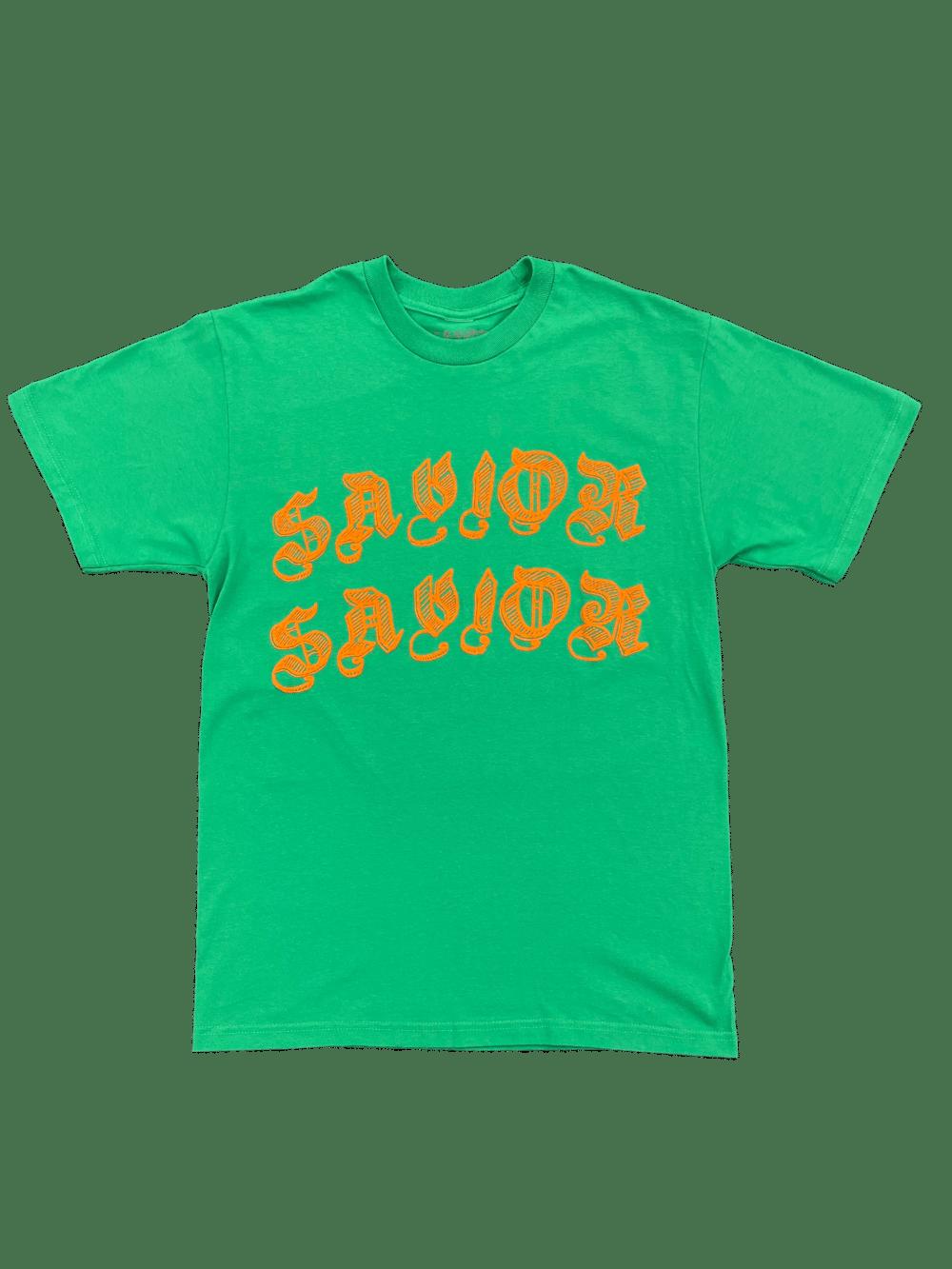 Image of Savior Worldwide Tee- Green