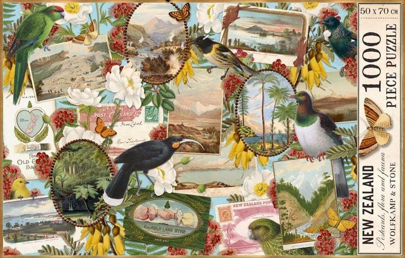 Wolfkamp &Stone -Birds and Postcards -  1000 piece puzzle