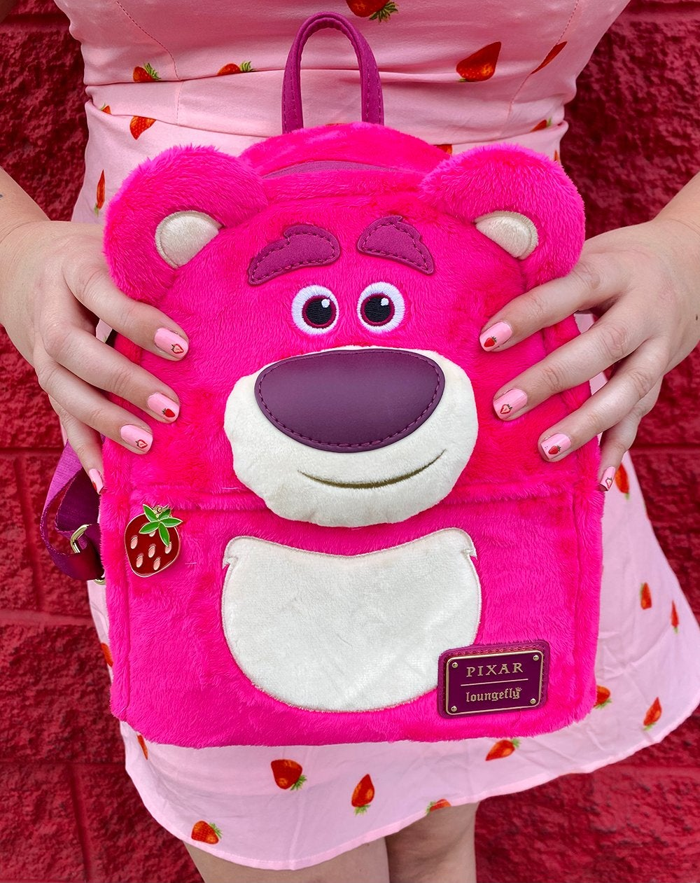 Image of LOUNGEFLY DISNEY PIXAR TOY STORY LOTSO COSPLAY SHERPA MINI BACKPACK