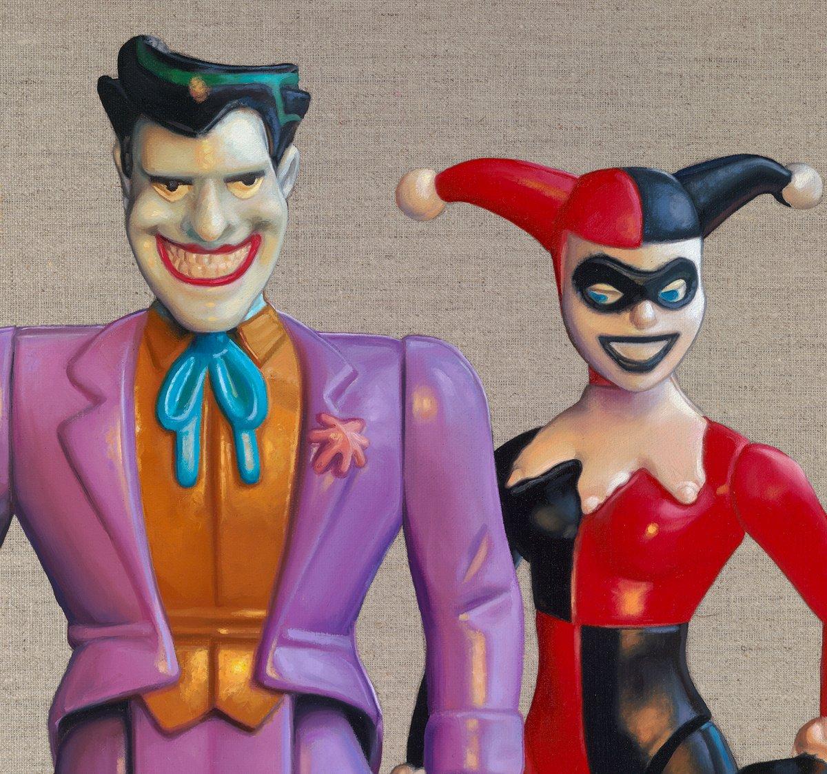 Joker & Harley Quinn // ORIGINAL OIL PAINTING
