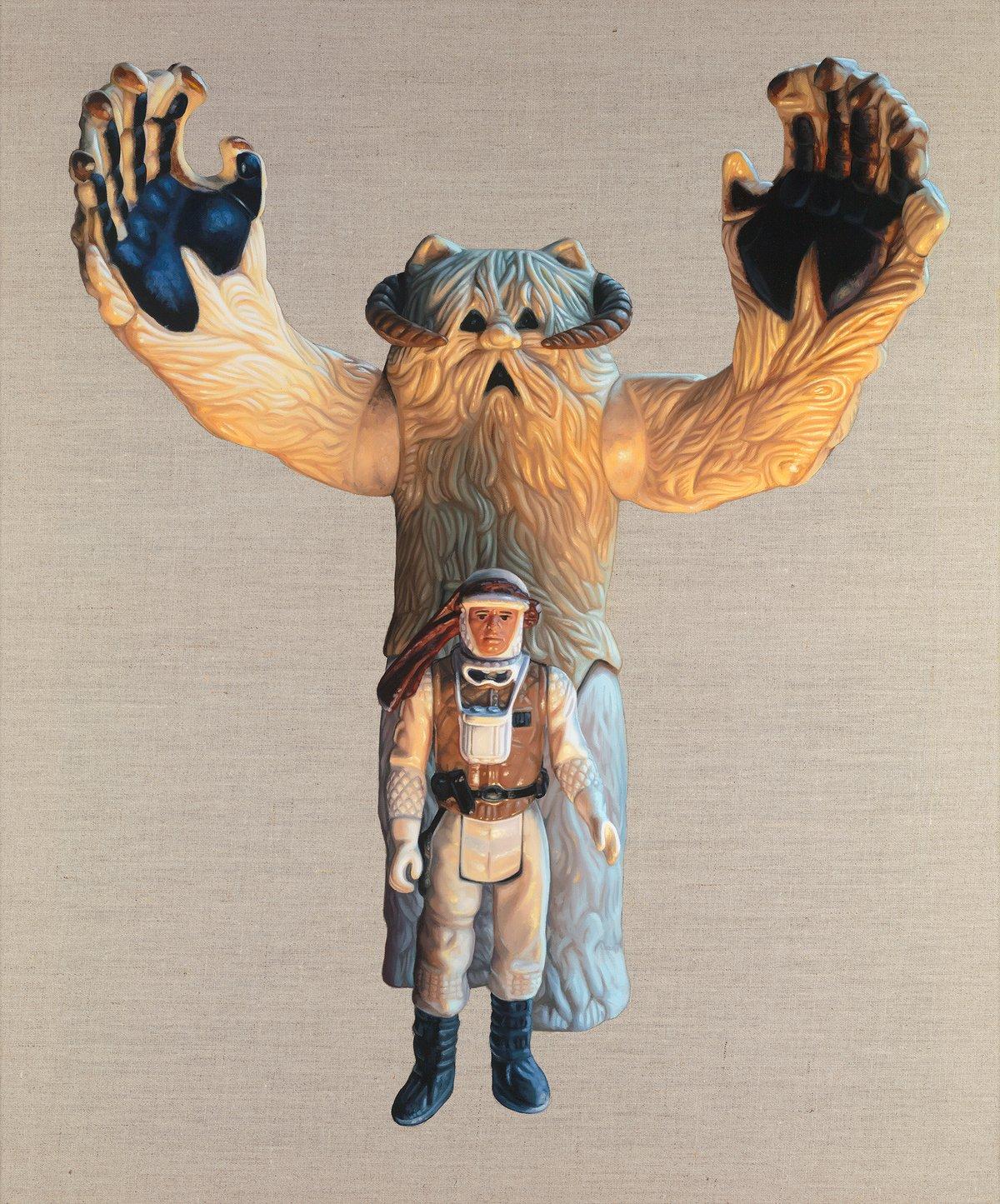 Luke Skywalker & Wampa // Original Oil Painting