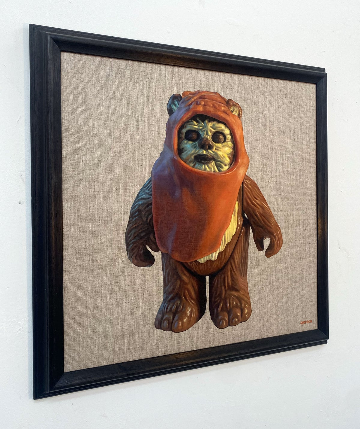 Wicket // Original Oil Painting (signed by Warwick Davis)