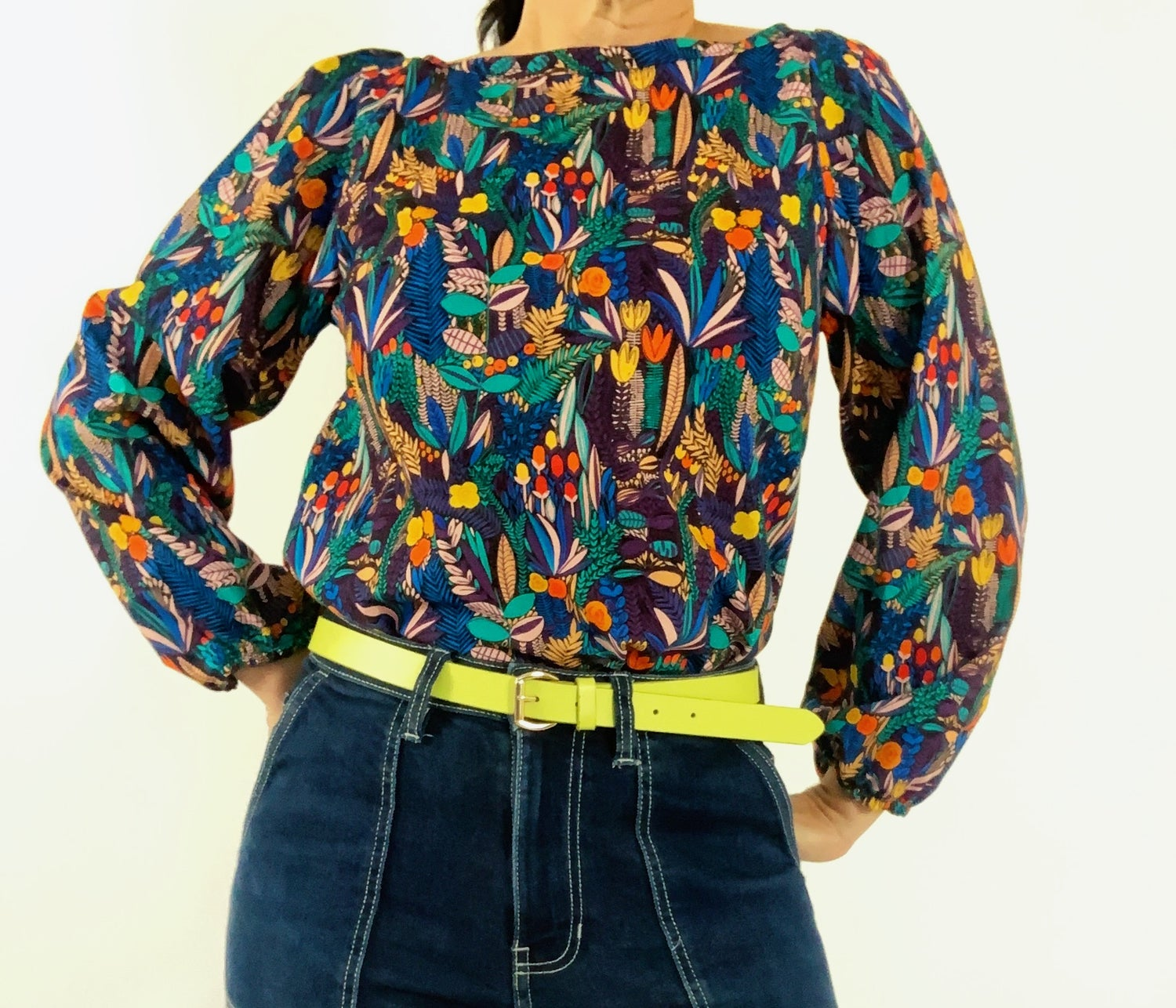 Ready Made Bright Floral Smock Top with free postage