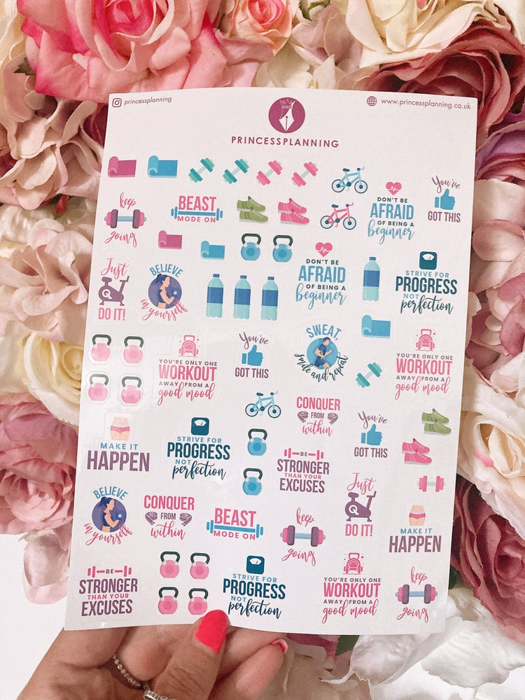 Image of FITNESS MOTIVATION STICKERS