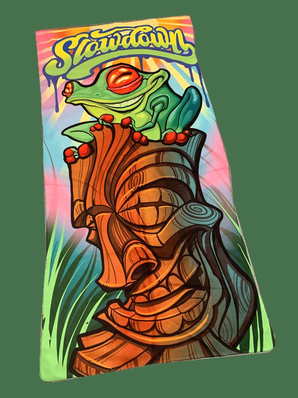 Tiki Frog Beach Towel