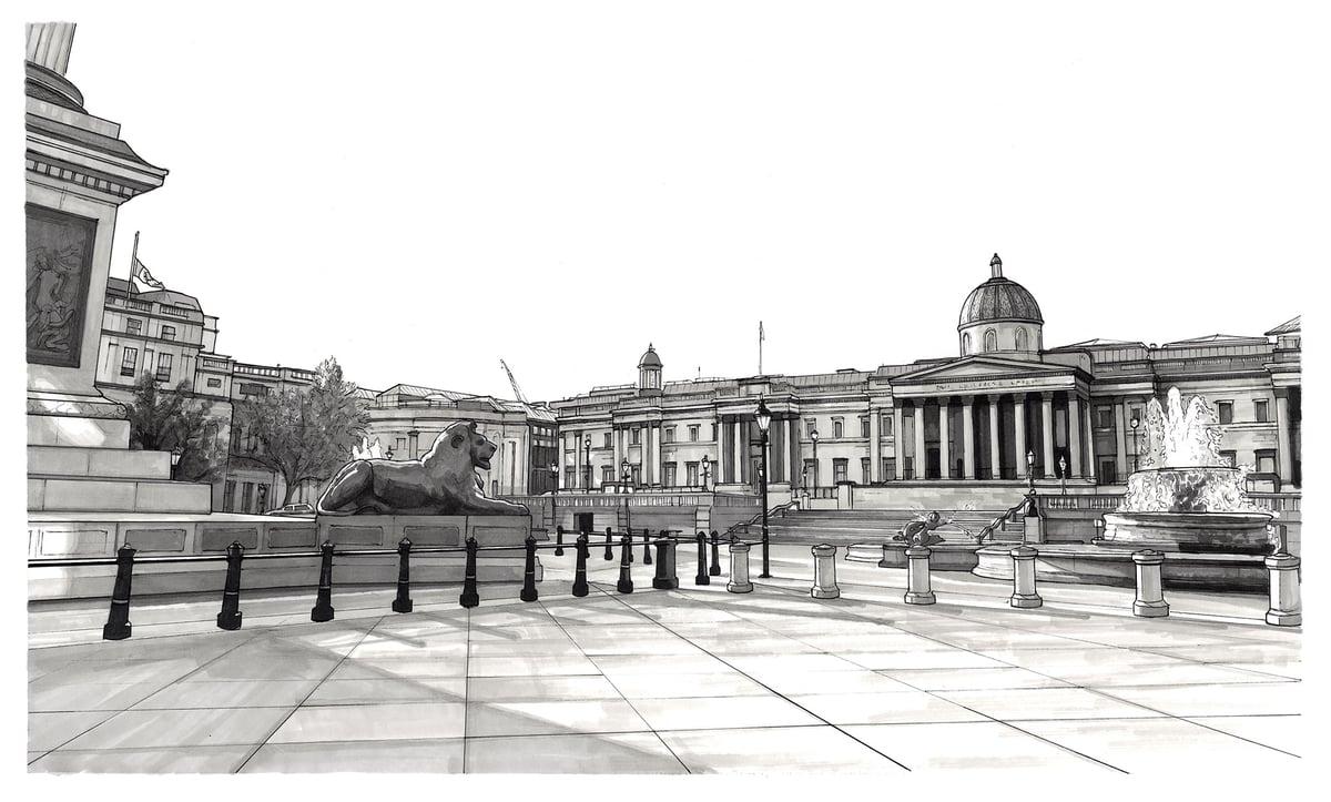 Trafalgar Square // Framed Original