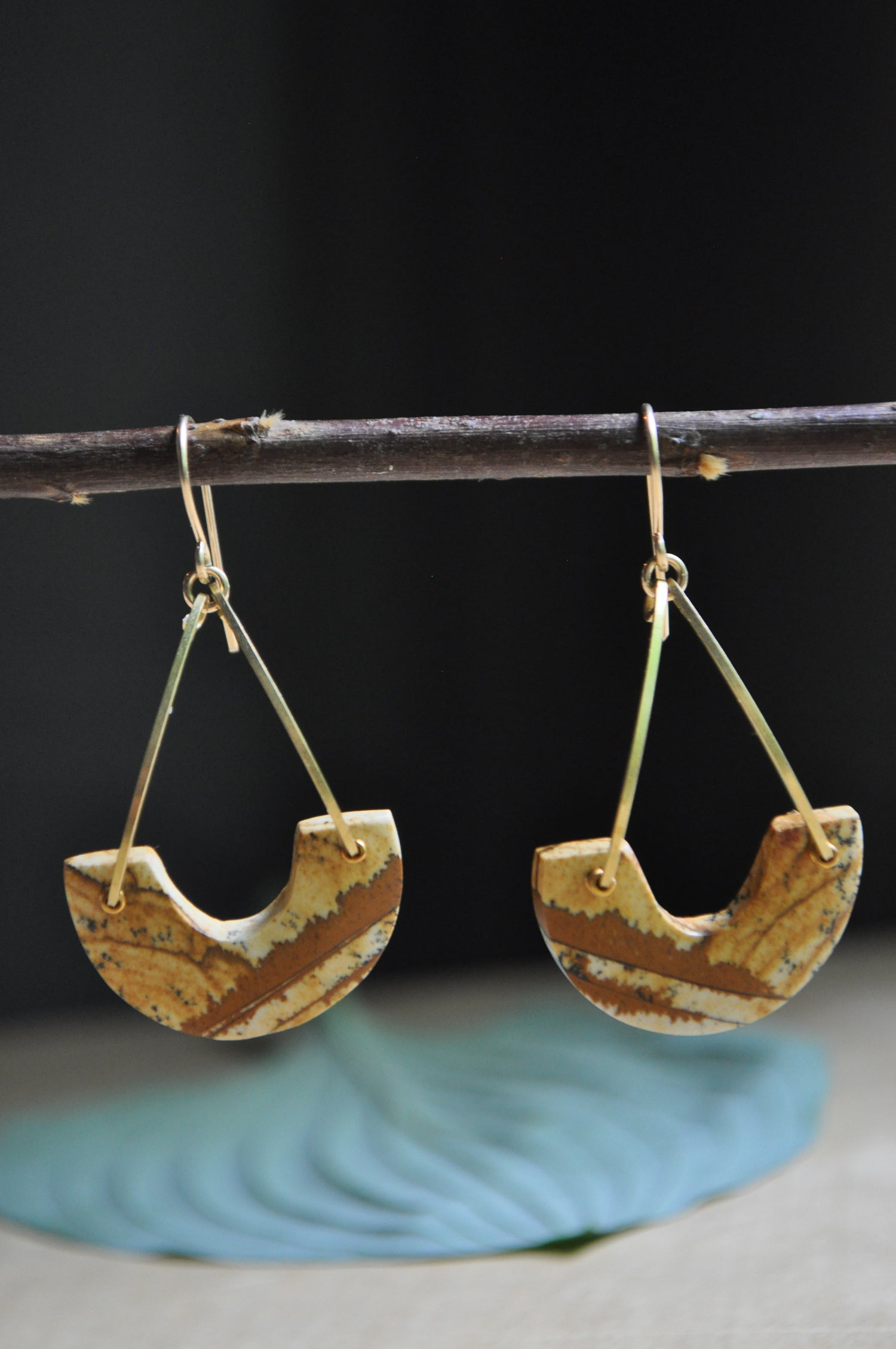Image of One of a Kind Picture Jasper Arc Dangles