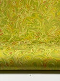 Marbled Paper Gouache on Chartreuse