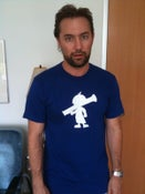 Image of The Official Kid with a Rocket Launcher logo T-Shirt (Royal Blue with white logo)