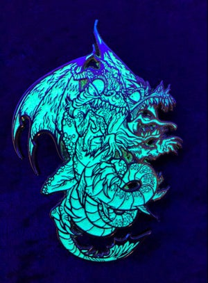 Image of White Glow Dancing Dragons x EmiMonster