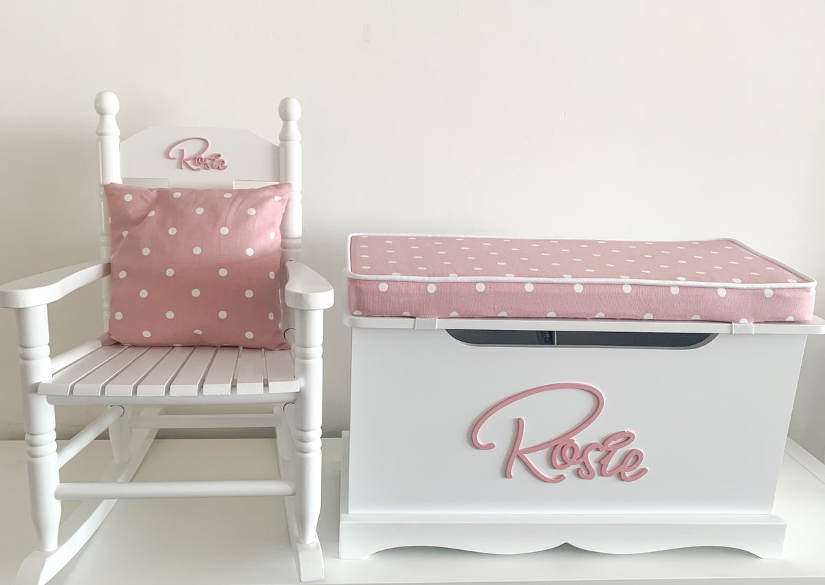 """Image of **NEW** """"Signature"""" Cushion Top Chest & Rocking Chair """"BUNDLE"""""""