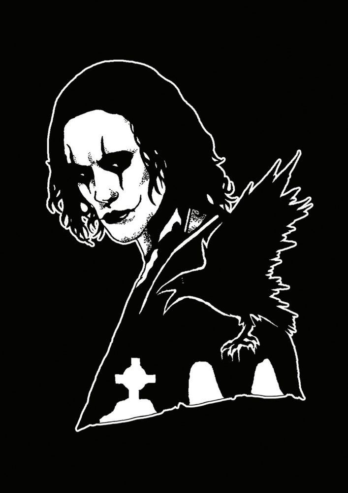Image of The Crow limited edition artprint.